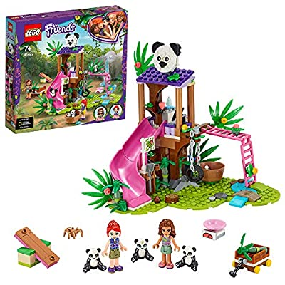 LEGO 41422 Friends Panda Jungle Tree House Playground Set with Olivia & Animals Figures, Jungle Rescue Series by LEGO