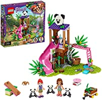 LEGO® Friends Panda jungle boomhut 41422 set; speelset met een boomhut met een glijbaan en 3 speelgoedpanda's (265...