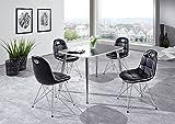 Dreams4Home Tischgruppe 'Liu V' - Set, Essgruppe, Tischgruppe, Sitzgruppe, 4 Stühle, Maße je Stuhl: H/T/B: 46 x 42 x 44 cm, Esstisch L/B/H: 120 x 80 x 74 cm, modern, Küche, Esszimmer,...