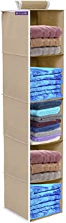 PrettyKrafts 5 Tiers Clothes Hanging Organizer, Wardrobe for Regular Garments, Shoes Storage Cupboard, Hanger Bag - Grey
