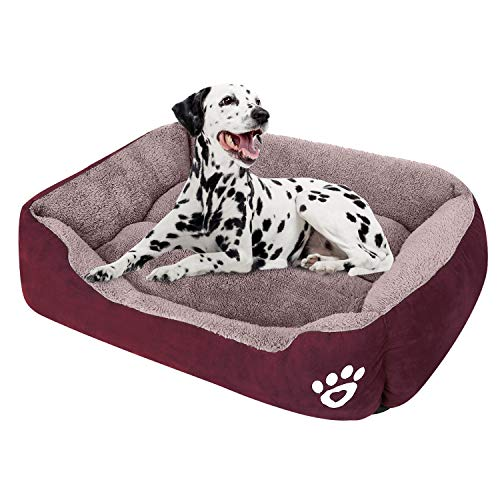 CLOUDZONE Dog Bed Machine Washable Rectangle Breathable Soft Fiber with Nonskid Bottom Extra Large Pet Bed for Medium and Large Dogs or Multiple