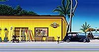 ハワイアン雑貨 インテリア/キャンバス パネル絵(Surf&Sea)【ハワイ雑貨】【お土産】