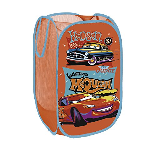 Worlds Apart Disney Cars Rangement Pop Up, Tissu, 36 x 36 x 58 cm