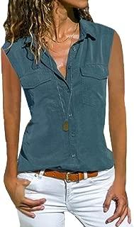 Mogogo Womens Sleeveless Casual Shirts Tops Loosefit Fashion Basic Blouse
