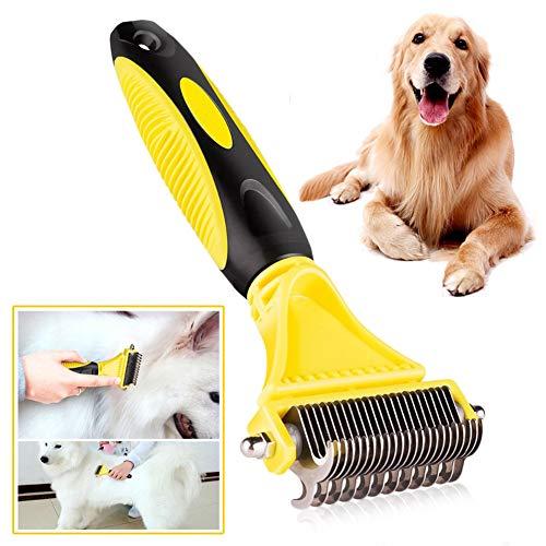 Nieuwe Roestvrij Dubbelzijdig Pet Hond Kat Kam Borstel Professional Grote Honden Open Knot Rake Knife Pet Grooming Producten