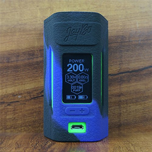 ModShield for Wismec Reuleaux RX2 20700 200W TC Silicone Case ByJojo Cover Shield Wrap Skin (Purple/Black)