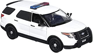 Motormax 2015 Ford Unmarked Police Interceptor Utility w/Lights and Sounds, White 79535 - 1/24 Scale Diecast Model Toy Car