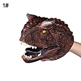 Galand Hand Puppet, Simulation Dinosaur PVC Hand Puppet Doll Intelligent Role Play Toy Kids Gift Torosaurus