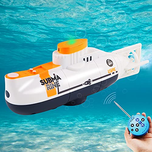 Seamuing Mini RC Submarine Remote Control Boat Rechargeable RC Submarine...