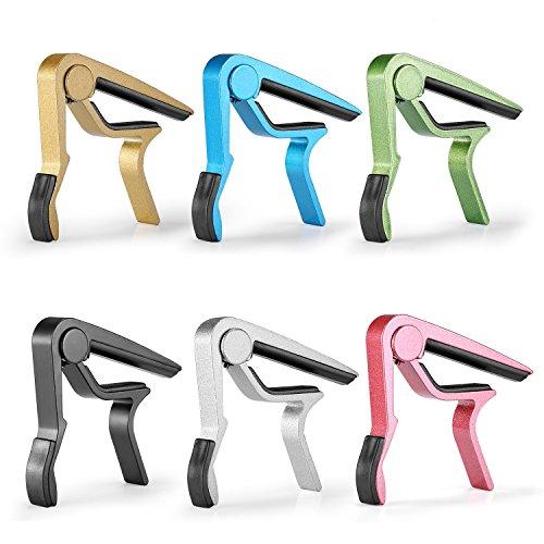 Neewer nw-1sei pezzi sei diversi colori alluminio rapido cambio di tono grip per chitarra: blu, nero, verde, argento, oro, rosso