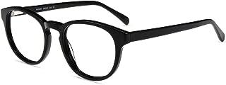 Firmoo Blue Light Blocking Glasses Women Round Nerd Computer Gaming Glasses for Men Anti UV400/Glare/Scratch,Reduce Migraines/Headache Black Non Prescription Eyewear Glasses