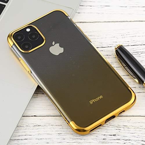 Für iPhone 11 Fall for iPhone 11 Pro Max Transparent Gradient TPU Anti-Tropfen und Wasserdichten Handy-Schutzhülle (Grün) Asun (Color : Yellow)