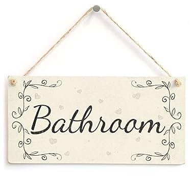 Meijiafei Bathroom - French type PVC Home Decor Door Sign / Plaque 10 x5
