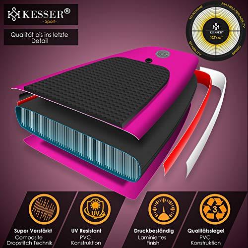 KESSER® SUP Board Set Pink 320x76x15cm - 3