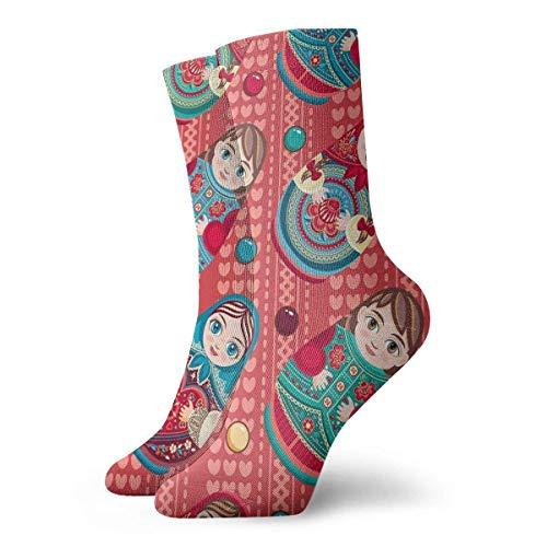 Business Socken,Sport/Sneaker Socken,High Performance Tennissocken,Anzug-Socken,Russisches Souvenir Matroschka - Babuschka-Puppe Gedruckte Feuchtigkeitskontrolle Laufsocken Langlebige Atmungsaktive