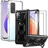 IMBZBK [4 Sets] 2pcs Case for Xiaomi Mi 10T/ 10T Pro + 2pcs