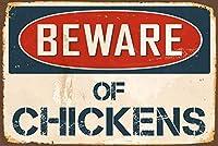 鶏に注意してくださいティンサイン