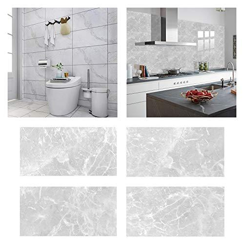 DriSubt Adhesivo de pared autoadhesivo, adhesivo para azulejos de pared, PVC, para decoración de hogar, sala de estar, cocina, baño, 30 cm x 15 cm (32 unidades, DLS022)