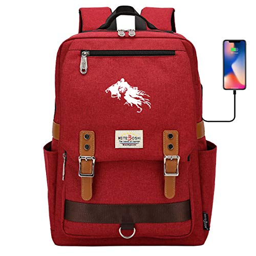 DDDWWW Dementor Backpack Large Capacity Multifunctional Waterproof Bag Suitable for Boys, Girls and Students Large red