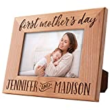 First Mothers Day Gifts, Personalized 1st Mother's Day Picture Frame, New Mom Gifts | Names, 4 Designs, 3 Sizes | Gift for Mom from Sister, Daughter, Son, Husband, Friend, Mom, Unique Gift Ideas