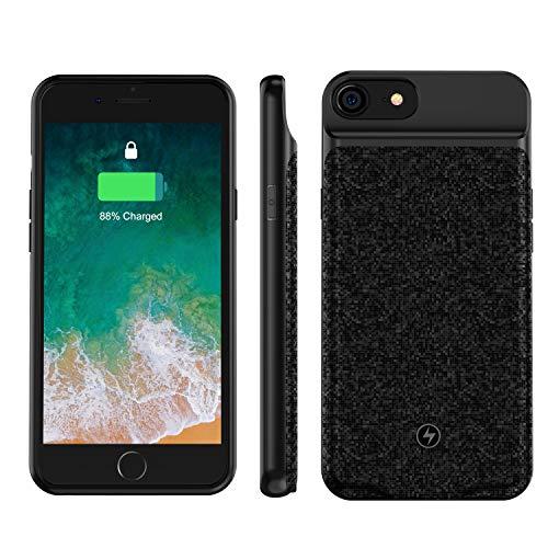 iPhone 6 6s 7 8 SE 2020 対応 Qi無線 バッテリーケース Qi 薄型 バッテリー内蔵ケース3000mAh 大容量 充電ケース急速充電 ケース型バッテリー 保護ケース4.7インチ用 黒