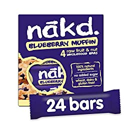 Pack of 24 Bars No Added Sugar 100% natural ingredients Gluten & Wheat and Dairy Free Suitable For Vegans