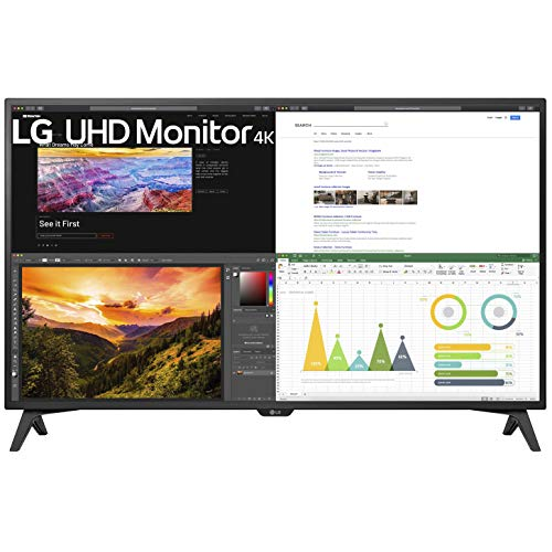 LG 43UN700-TB 43 Inch Monitor Class UHD 4K (3840 X 2160) IPS Display with USB Type-C and HDR10 with 4 HDMI Inputs, Black