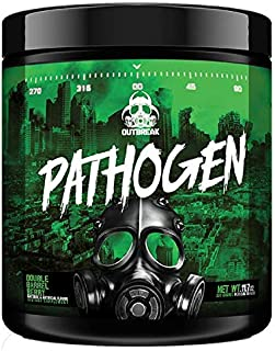 Pathogen Pre Workout - Energy Boosting Preworkout Powder, Energy Inducing Stimulants and Muscle Pump Evoking Compounds, Double Barrel Berry, 336g