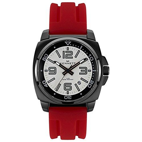 Kennett VALBKWHRD - Reloj para Hombres, Correa de Goma Color Rojo