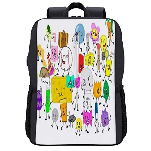 Battle- for- Bfdi Travel Laptop Backpack with USB Charging Port for Women Men College School Student Gift,Bookbag Casual Hiking Daypack