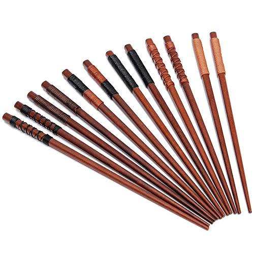 6 Paar Essstäbchen Japanische Natur Chopsticks aus umweltfreundlichem hölzernen (6 Paar)