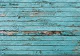 100 manteles de mesa con estampado de madera y aspecto usado I DIN A3 rectangular I juego de manteles de mesa de papel azul, moderno I mantel de mesa desechable I dv_042