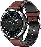 PKLG Smart Watch da uomo impermeabile orologio sportivo con ossigeno nel sangue PPG battito cardiaco monitoraggio della pressione sanguigna contapassi compatibile con Samsung iPhone (I)