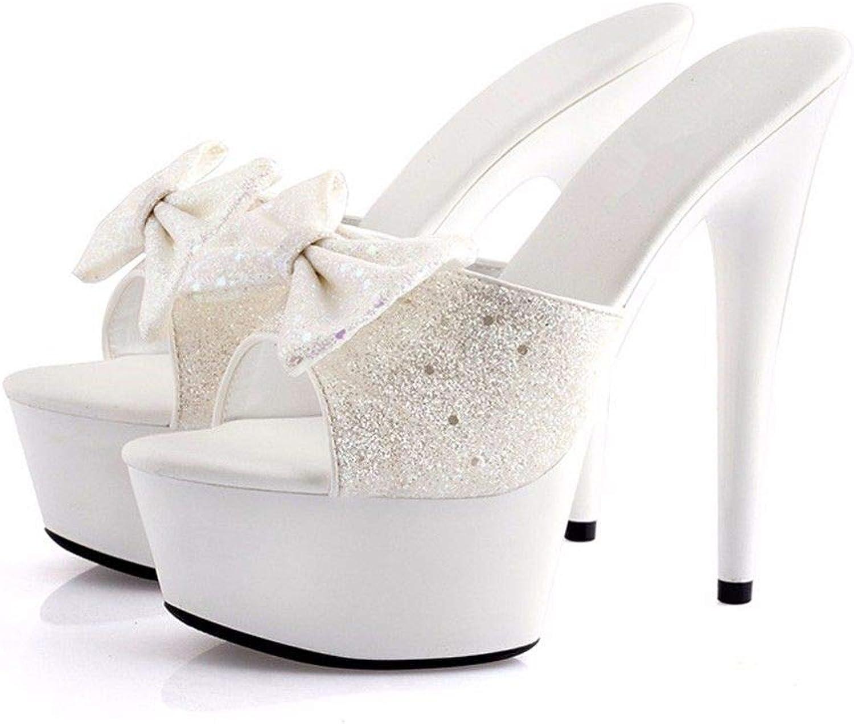 FLYRCX Sommer feine Heel High Heel Schuhe Damen Hausschuhe