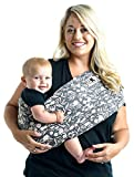 Baby K'tan Print Baby Wrap Carrier, Infant and Child Sling - Simple Wrap Holder for Babywearing - No Rings or Buckles - Carry Newborn up to 35 lbs, Floral Garden, S (W Dress 6-8 / M Jacket 37-38)