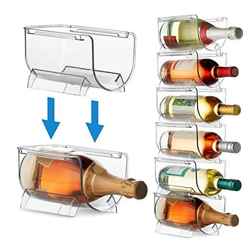 N\A Botellero Transparente Almacenamiento de vinos Bebida embotellada Bebida de Almacenamiento Botella de Vino Universal Botella de Botella Frigorífico Organizador de Almacenamiento (Color : 4PCS)