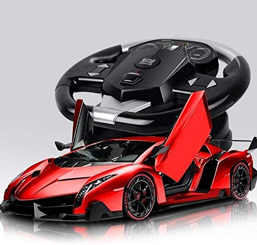 Coche de control remoto recargable grande a escala 1:10 Modelo de coche deportivo RC de alta simulación fresco con faro LED 4x4 Vehículo de carreras RC de alta velocidad 2.4G Auto eléctrico fessional