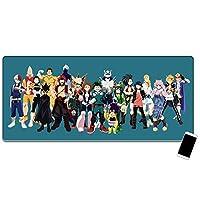 私のヒーローアカデミア大型マウスパッド、漫画のマウスパッド、ゲーミングマウスパッド、デスクトップマウスパッド、滑り止めと防水、マット800 * 300 * 3 MM /900 * 400 * 3 MM-イメージA_800*300*3mm