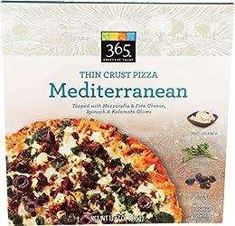 365 Everyday Value, Mediterranean Thin Crust Pizza, 13.57 oz, (Frozen)