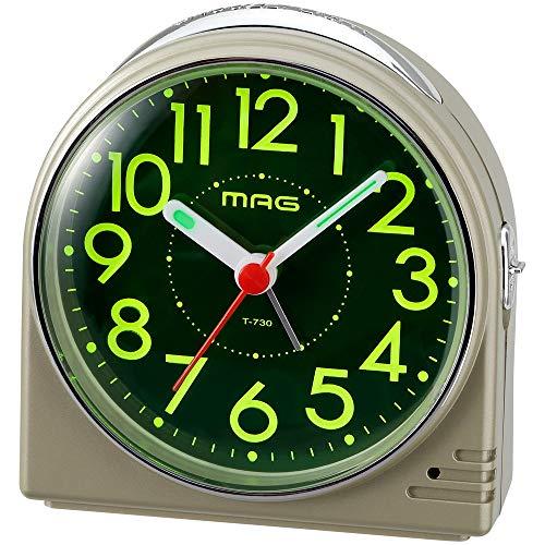 ノア精密 ノア精密 ノア精密 T-730-CGM-Z シャンペンゴールド MAG 目覚まし時計(ホタル)