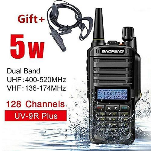 ChaserDe Walkie Talkie UV-9R Plus 15 W VHF UHF Walkie Talkie Comunicación de Radio bidireccional de Mano de Doble Banda...