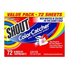 Color-Catcher sheets lock up loose dyes found in the wash water Helps prevent dye transfer and color runs to maintain original colors of clothes Saves time by reducing the need for sorting Saves money by reducing the need for half-sized loads Safe fo...