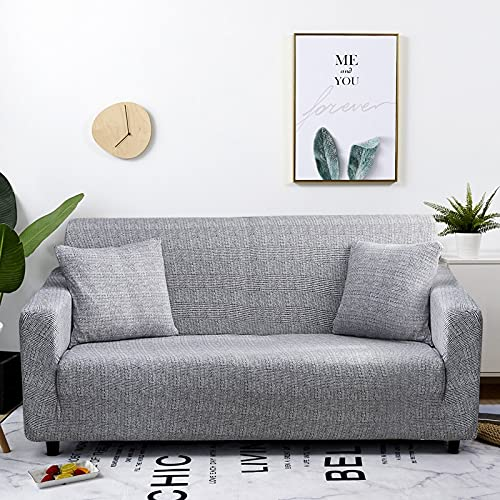 PPOS Sofá elástico Funda de sofá Todo Incluido para Sala de Estar Fundas de Esquina sofás con Chaise Longue Funda de sofá Funda para Muebles D11 1 Asiento 90-140cm-1pc