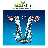 Ecoshirt AQ-JJHO-Q3UU Pegatinas Stickers Fork Rock Shox SID 2018 Am179 Aufkleber Decals Autocollants Adesivi Forcela, Blanco