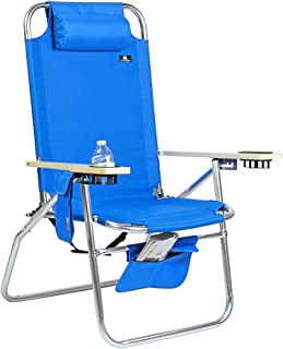 Deluxe XL Wide Big Boy Aluminum Heavy Duty Beach Chair 17 inches Seat Height - 300 lb Load Capacity