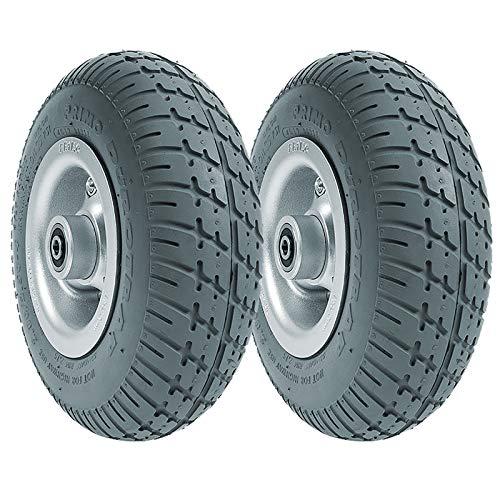 Radersatz Für Elektrorollstuhl, 22 Cm (9 Zoll / 22 Cm) Fest Rollstuhl Reifen, Rutschfeste Gummi-Vorderrad-Antriebsräder (2 Stück)