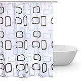 Duschvorhang 180x240 Textil,Anti-Schimmel bad vorhang,wasserdichter stoff waschbarer Shower Curtain,waschbar Anti-Bakteriell Badewanne Duschvorhänge 12 ringe für Badezimmer(Breite:180cm,Höhe:240cm)