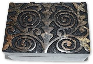 Nature's Enlightenment Spiral Wooden Box- Tarot Cards, Crystals, Altar Supplies, Gift Giving