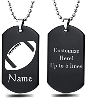 football dog tags