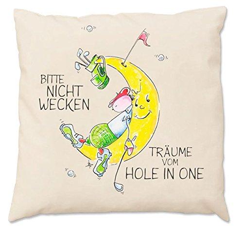 Oups-Zirbenkissen groß (30 x 30 cm): Bitte Nicht Wecken - Träume von Hole in One